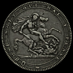 1819 George III Milled Silver LIX Crown Reverse