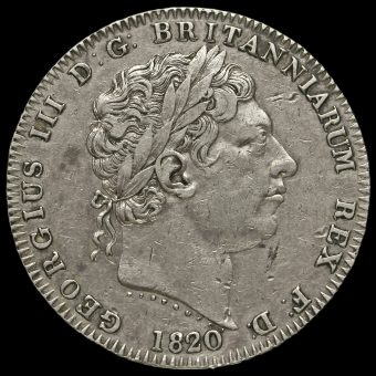1820 George III Milled Silver LX Crown Obverse