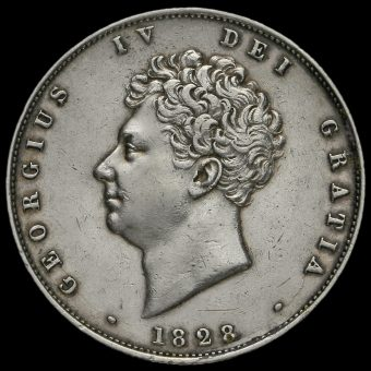 1828 George IV Milled Silver Half Crown Obverse