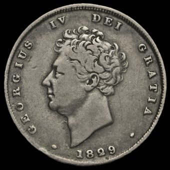 1829 George IV Milled Silver Shilling Obverse