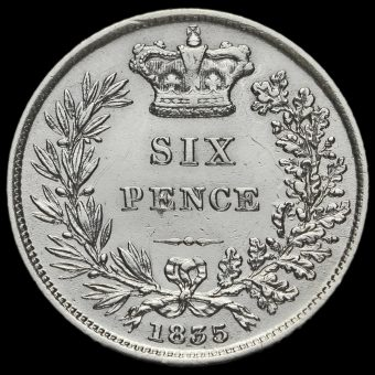 1835 William IV Milled Silver Sixpence Reverse