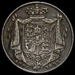 1837 William IV Milled Silver Half Crown Reverse