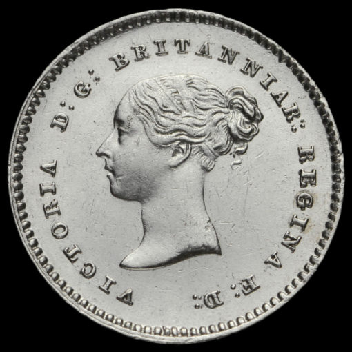 1838 Queen Victoria Young Head Silver Maundy Twopence Obverse