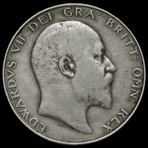1905 Edward VII Silver Half Crown Obverse