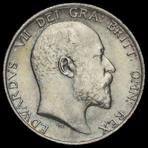 1910 Edward VII Silver Shilling Obverse