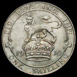 1910 Edward VII Silver Shilling Reverse
