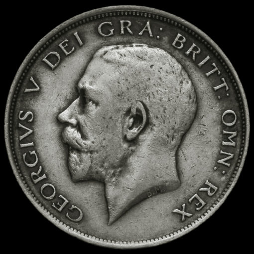 1912 George V Silver Half Crown Obverse