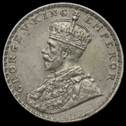 British India 1916 George V One Rupee Obverse