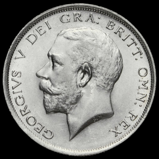 1918 George V Silver Half Crown Obverse
