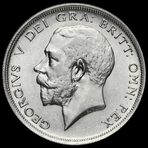 1920 George V Silver Half Crown Obverse