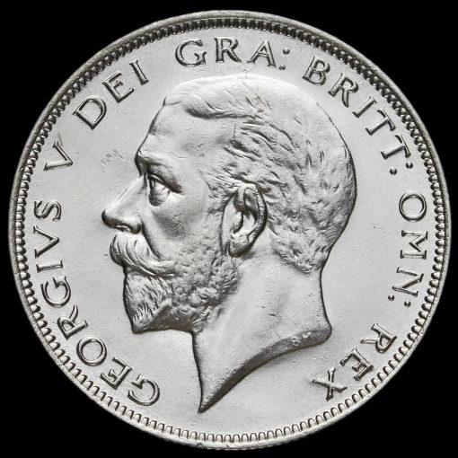 1933 George V Silver Half Crown Obverse
