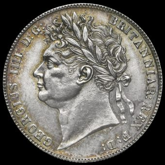 1821 George IV Milled Silver Half Crown Obverse