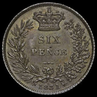 1831 William IV Milled Silver Sixpence Reverse
