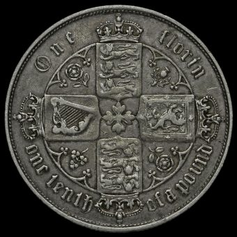 1855 Queen Victoria Gothic Florin Reverse