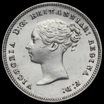1860 Queen Victoria Silver Maundy Fourpence Obverse