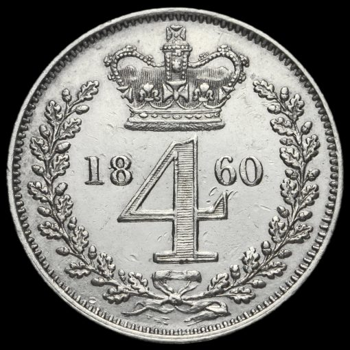 1860 Queen Victoria Silver Maundy Fourpence Reverse