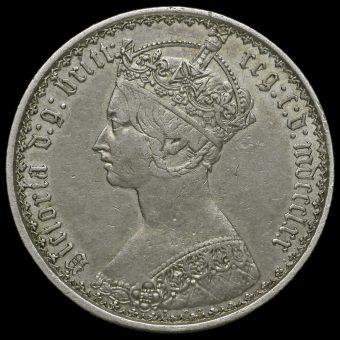 1870 Queen Victoria Gothic Florin Obverse