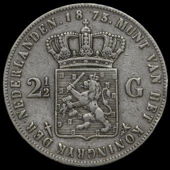 Netherlands 1873 2 1/2 Gulden Reverse