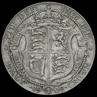 1909 Edward VII Silver Half Crown Reverse