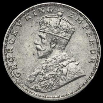 British India 1917 George V 2 Annas Obverse
