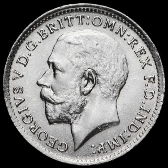1919 George V Silver Threepence Obverse