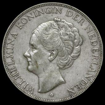 Netherlands 1930 2 1/2 Gulden Obverse