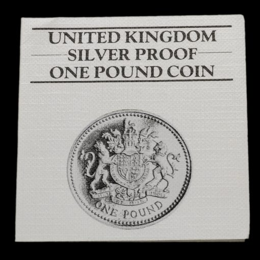 1983 Silver Proof £1 One Pound Coin C.o.a