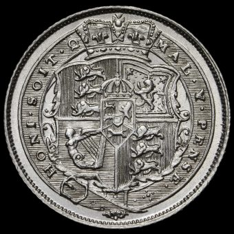 1820 George III Milled Silver Sixpence Reverse