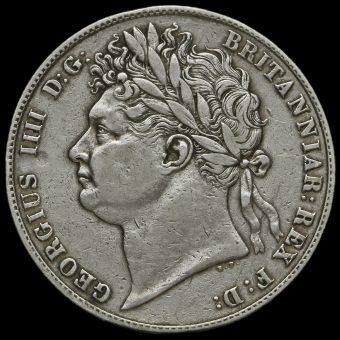 1824 George IV Milled Silver Half Crown Obverse