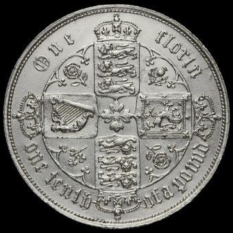1853 Queen Victoria Gothic Florin Reverse