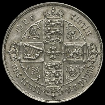 1858 Queen Victoria Gothic Florin Reverse