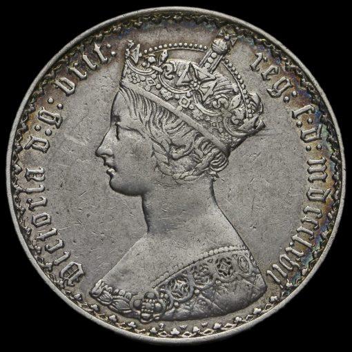 1867 Queen Victoria Gothic Florin Obverse
