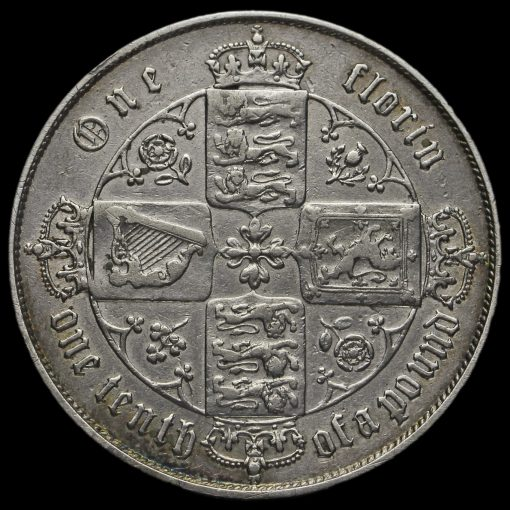 1867 Queen Victoria Gothic Florin Reverse