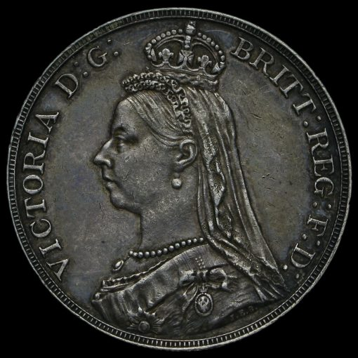 1888 Queen Victoria Jubilee Head Silver Crown Obverse