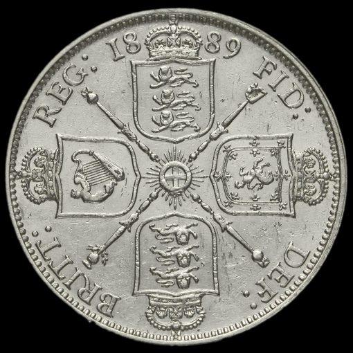 1889 Queen Victoria Jubilee Head Silver Florin Reverse