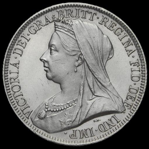 1893 Queen Victoria Veiled Head Silver Florin Obverse