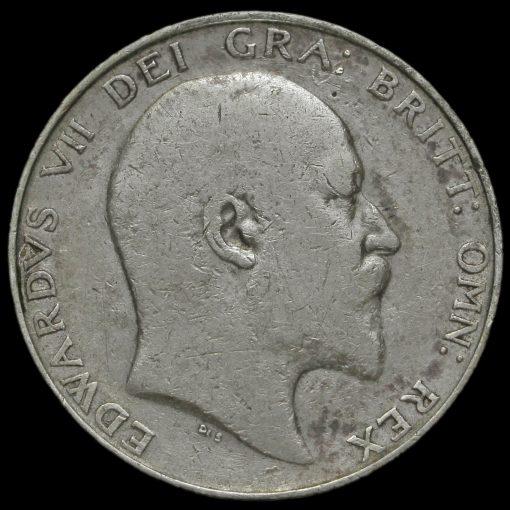 1902 Edward VII Silver Half Crown Obverse
