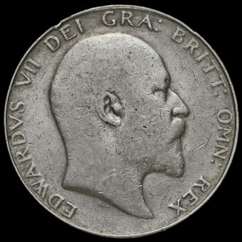 1907 Edward VII Silver Half Crown Obverse
