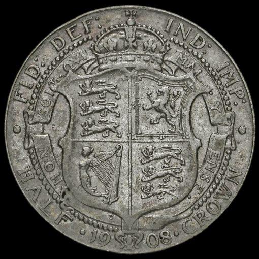 1908 Edward VII Silver Half Crown Reverse