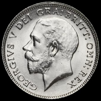 1915 George V Silver Sixpence Obverse