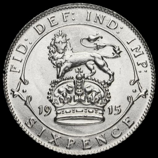 1915 George V Silver Sixpence Reverse