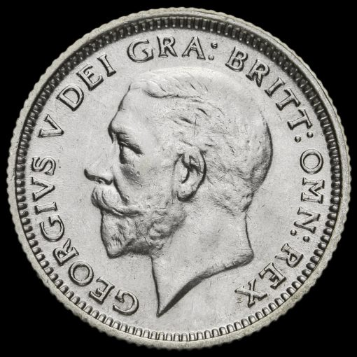 1927 George V Silver Sixpence Obverse