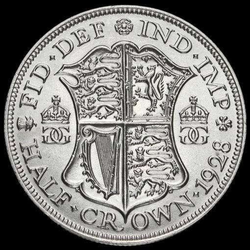 1928 George V Silver Half Crown Reverse