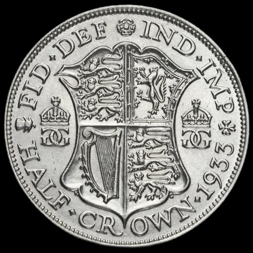 1933 George V Silver Half Crown Reverse
