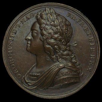 1727 George II Coronation Bronze Medal Obverse