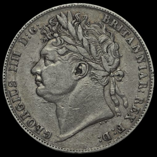 1823 George IV Milled Silver Half Crown Obverse