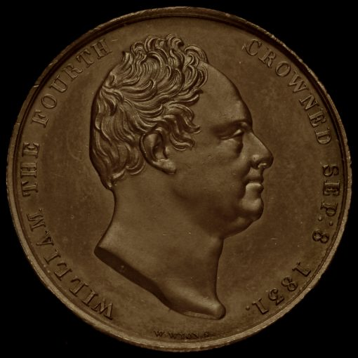 1831 William IV Coronation Bronze Medal Obverse