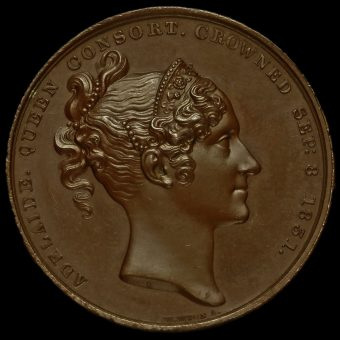 1831 William IV Coronation Bronze Medal Reverse