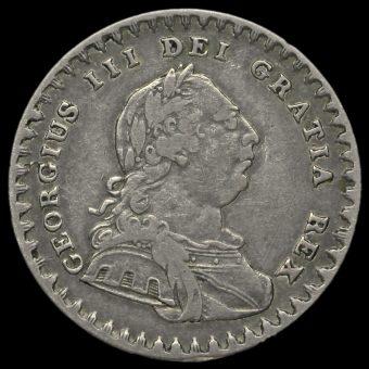 1811 George III Silver Eighteenpence Bank Token Obverse