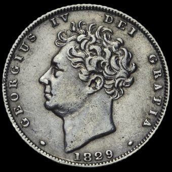 1829 George IV Bare Head Milled Silver Sixpence Obverse